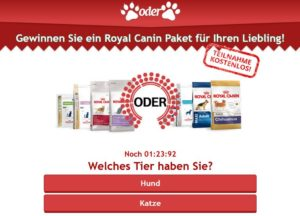 Royal Canin Paket Gewinnspiel